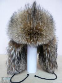 Шапка-ушанка из волка