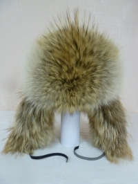 Шапка-ушанка из серо-рыжего волка