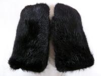 Варежки из чёрного бобра