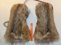 Варежки из волка цельномеховые длинные