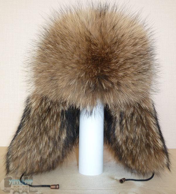 купить мужскую меховую шапку из енота.