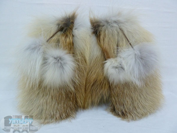 Варежки из меха лисы и натуральной кожи.  Голосов: 7.